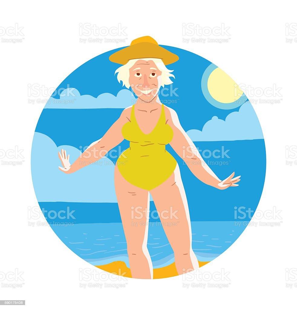 royalty free senior woman sunbathing clip art vector images rh istockphoto com person sunbathing clipart girl sunbathing clipart