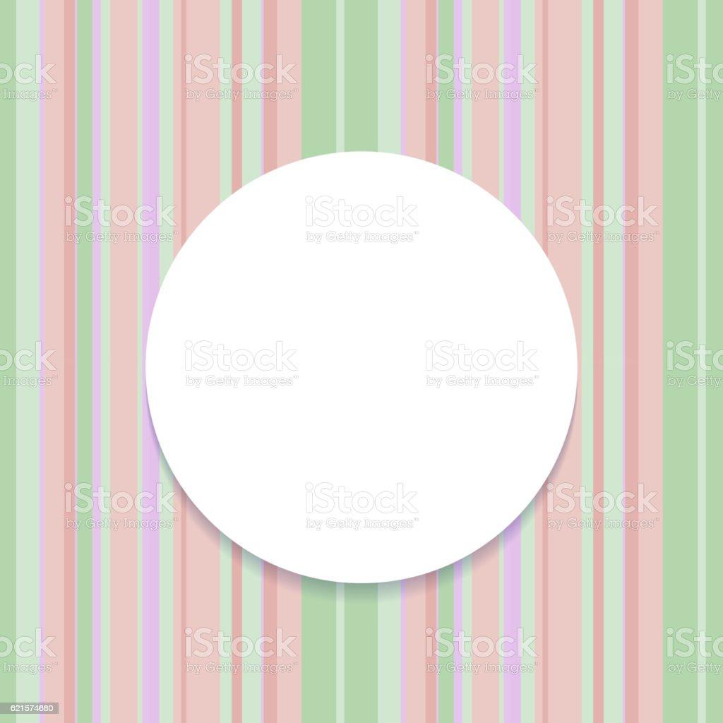 Round frame on striped seamless background. round frame on striped seamless background – cliparts vectoriels et plus d'images de abstrait libre de droits