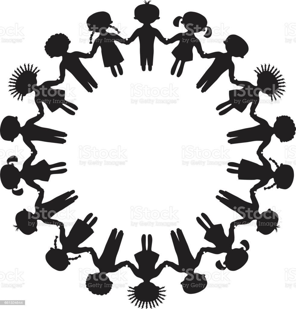 Marco redondo  - ilustración de arte vectorial