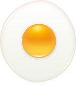 Round fried egg icon