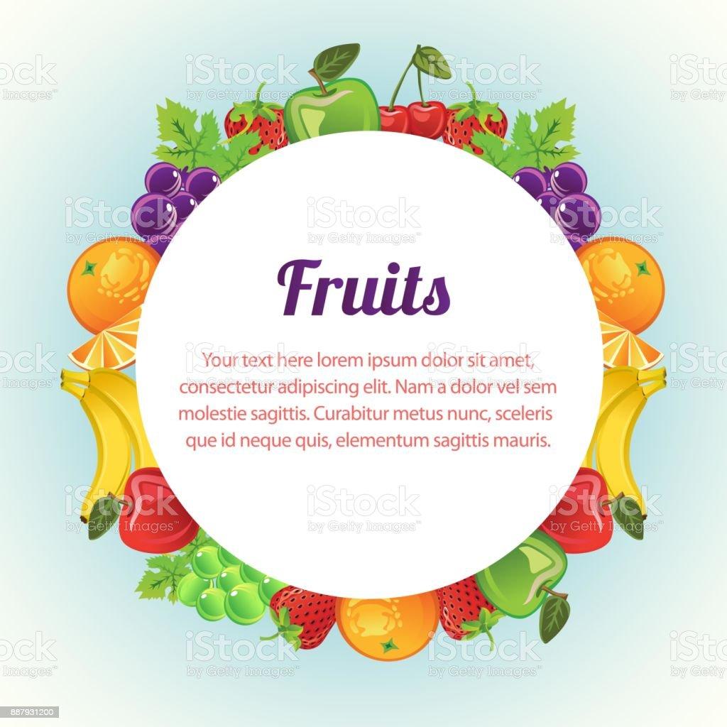Runde Früchte Vorlage Stock Vektor Art und mehr Bilder von Apfel ...