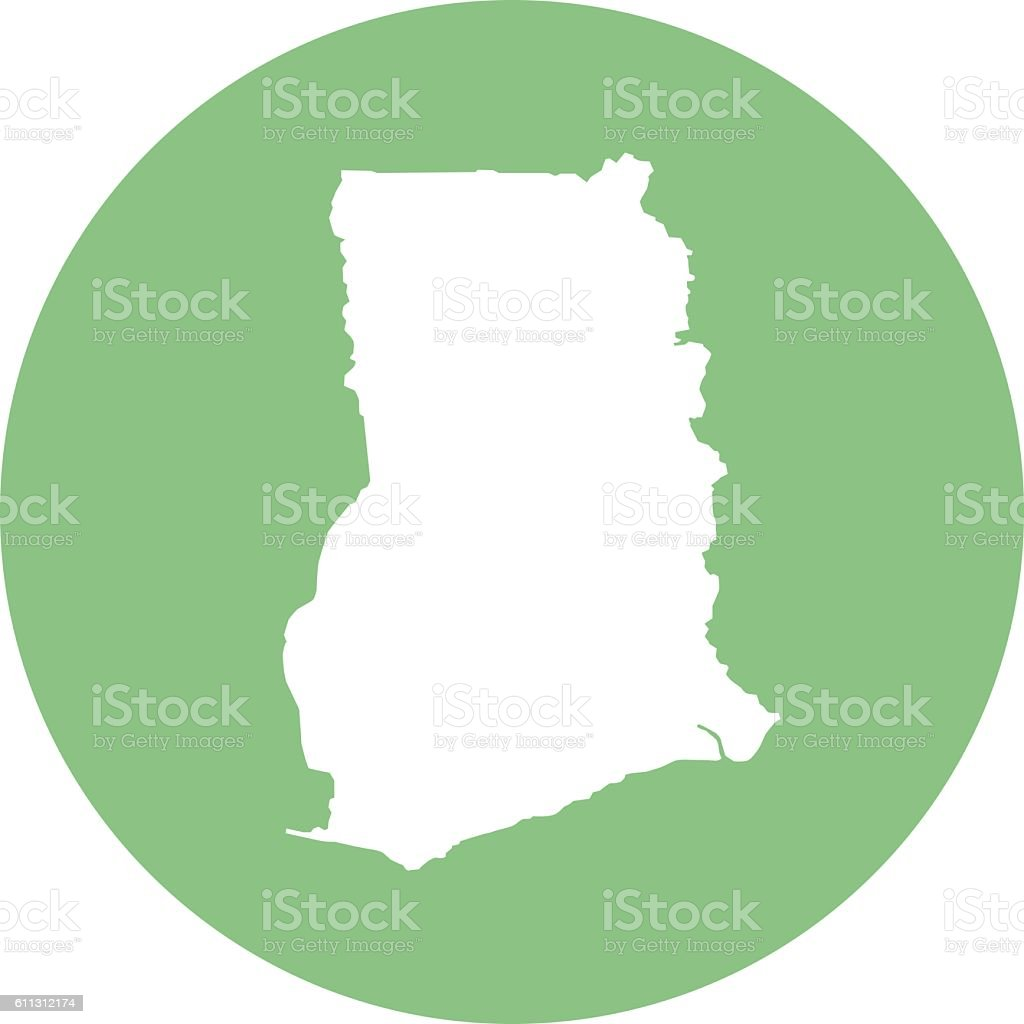 Ghana In Africa Map.Round Ghana Map Icon Stock Vector Art More Images Of Africa