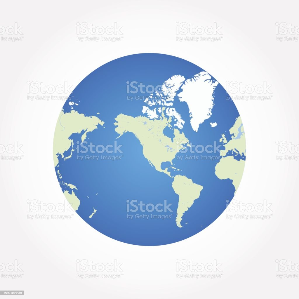 Round globe world map flat vector illustration eps 10 stock vector round globe world map flat vector illustration eps 10 royalty free round globe world gumiabroncs Gallery