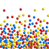 Round glossy buttons or game bubbles pattern. Colorful balls or round sweet candies background