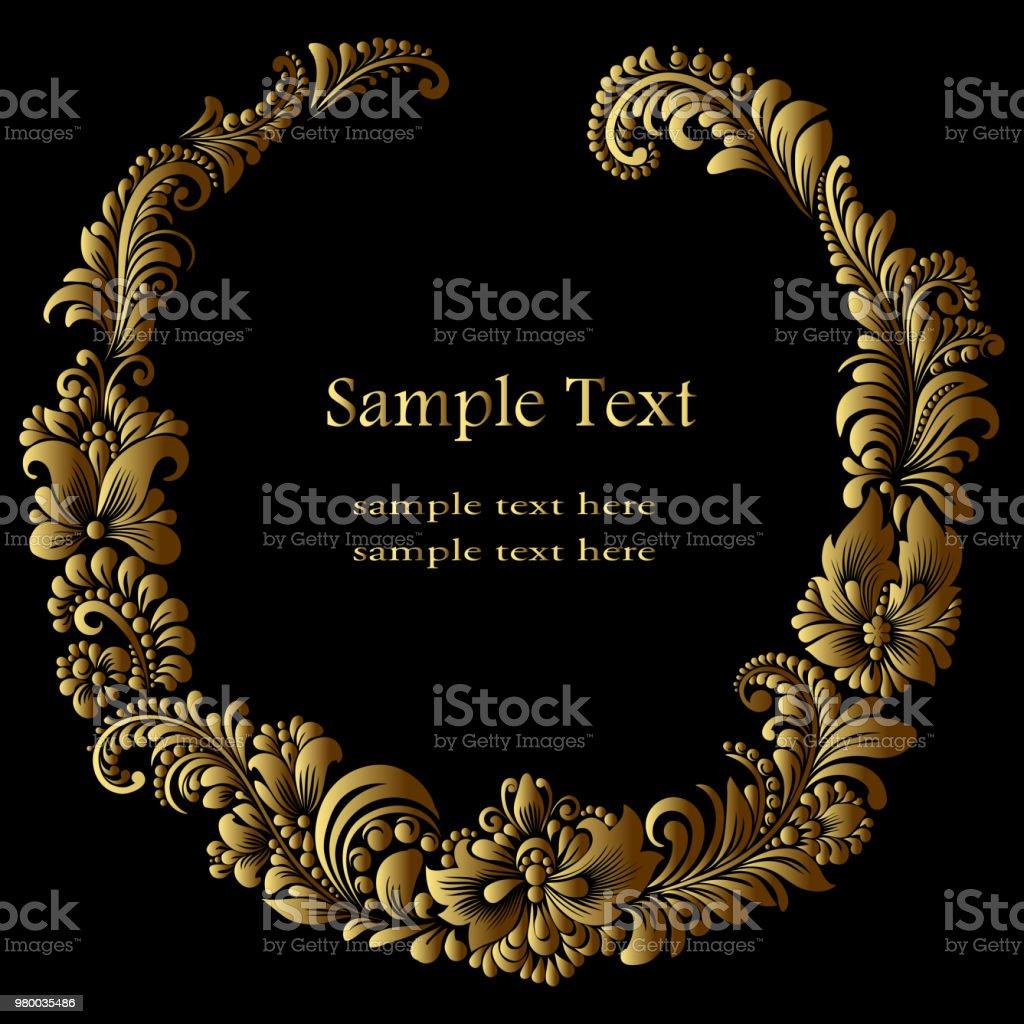 Runde Goldrahmen Stock Vektor Art und mehr Bilder von Alt 980035486 ...