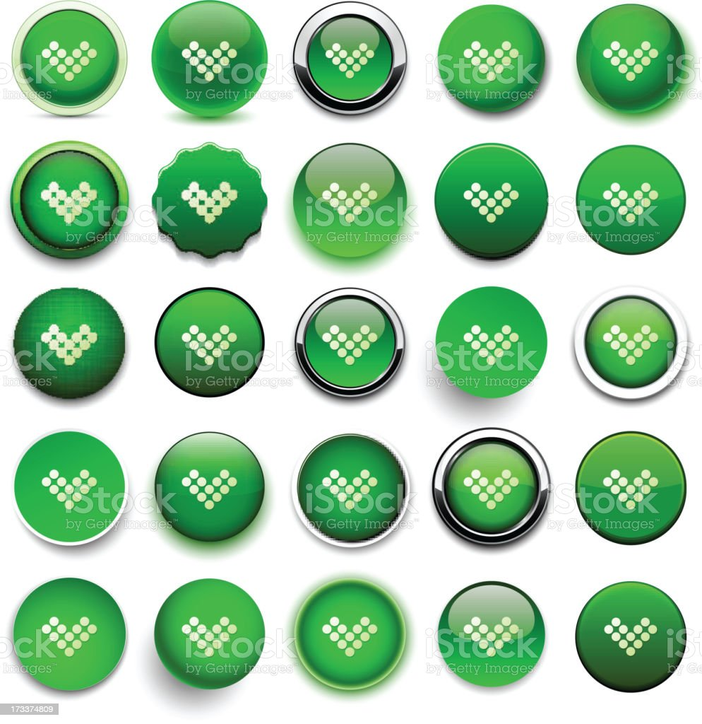 Round green download icons. royalty-free round green download icons stock vector art & more images of arrow symbol