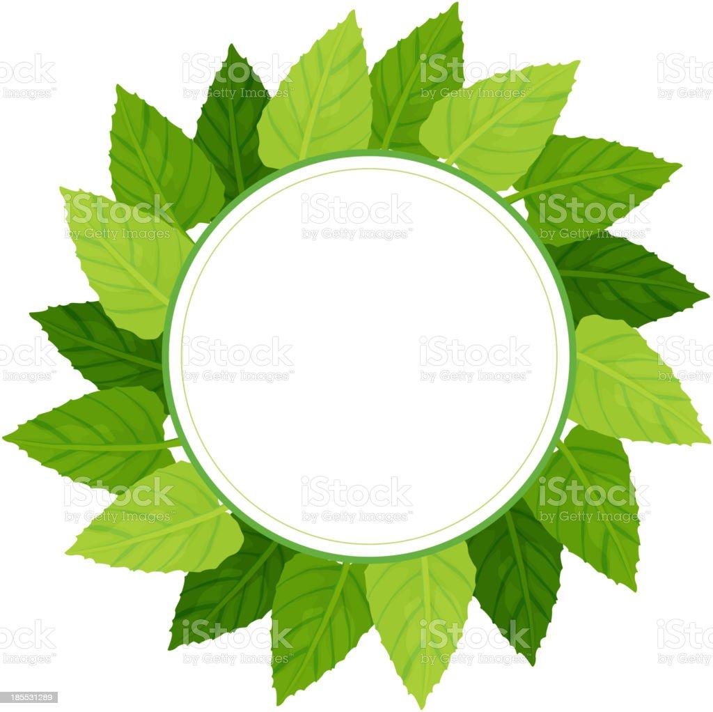 round green leafy border royalty-free stock vector art