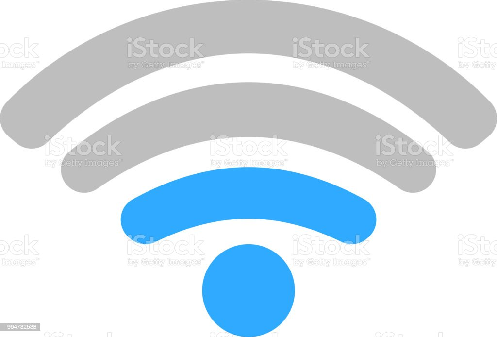 Round Green Signal icon of radio wave status 2 royalty-free round green signal icon of radio wave status 2 stock vector art & more images of antenna - aerial