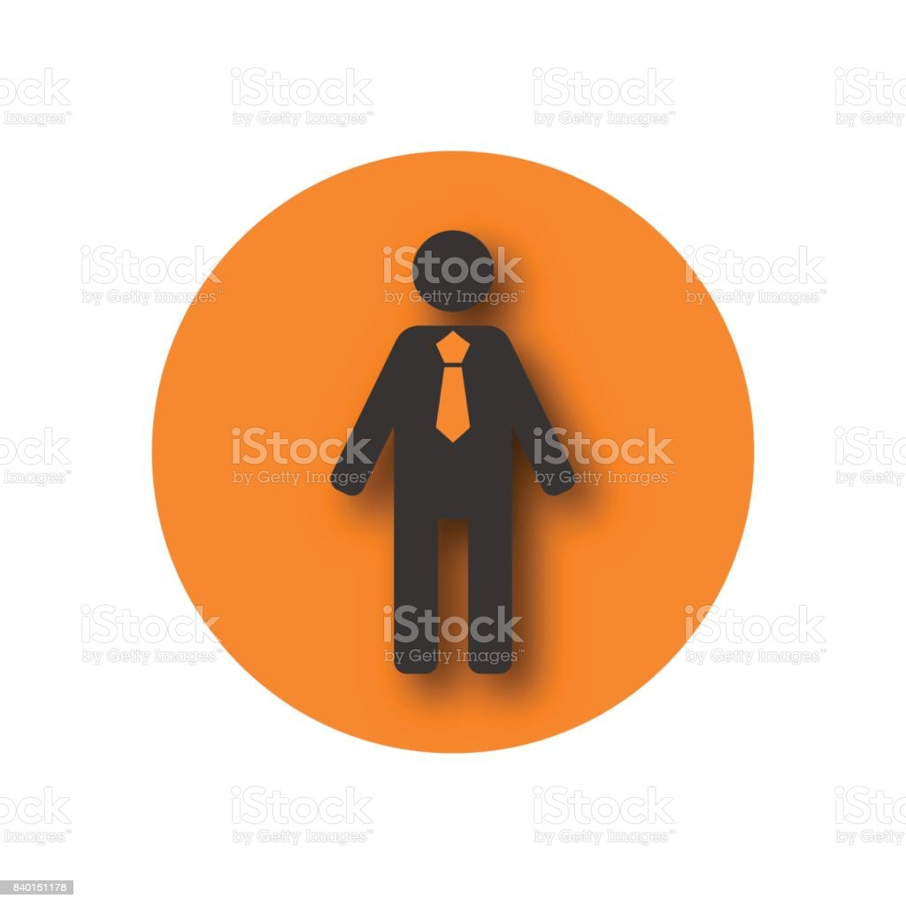 Round icon biznessmen, vector illustration. vector art illustration