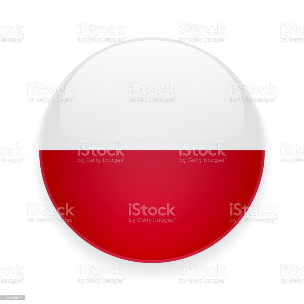 Runde Symbol mit der Flagge von Polen – Vektorgrafik