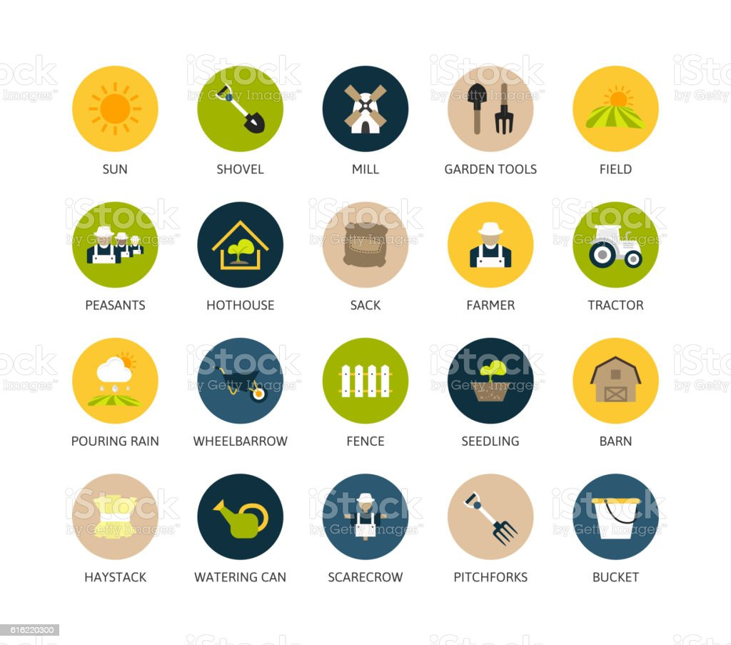 Round icons thin flat design, modern line stroke style vector art illustration