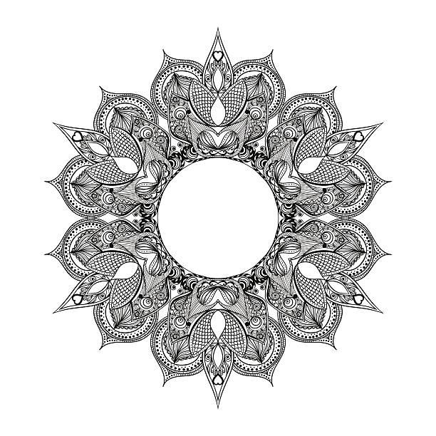 Zentangle stylisé partie indien, arabe Mandala. Main tiré NIV - Illustration vectorielle
