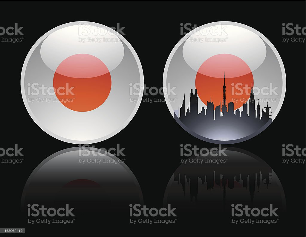 Round Japanese Marble royalty-free stock vector art