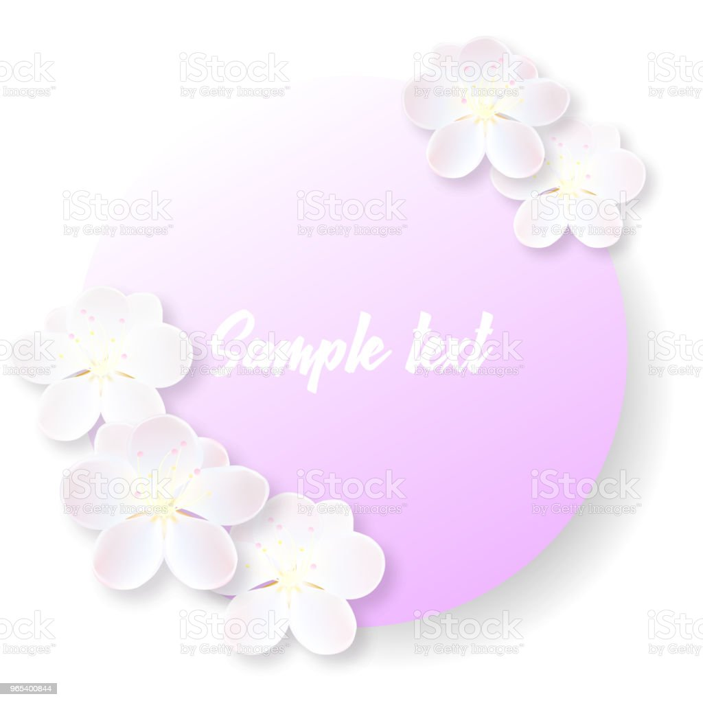 Round label or sticker with delicate sakura flowers royalty-free round label or sticker with delicate sakura flowers stock vector art & more images of anniversary