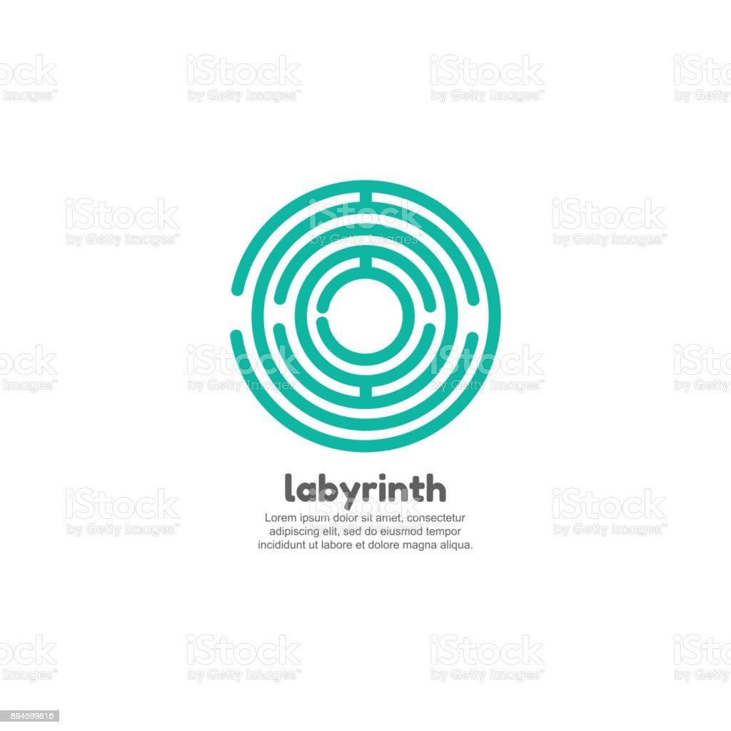 Ilustración de Plantilla De Vector De Diseño De Laberinto Redondo y ...