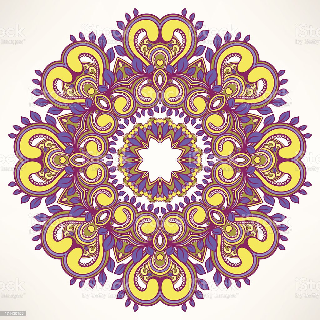 round leaf purple pattern royalty-free stock vector art