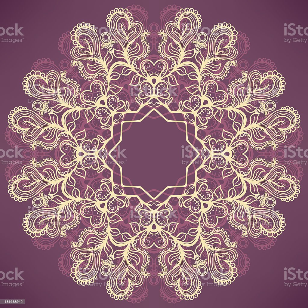 round natural purple pattern royalty-free stock vector art