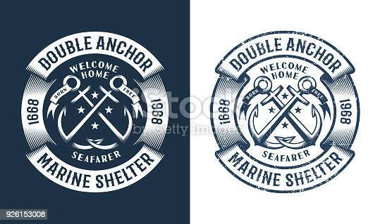 istock Round nautical icon 926153008