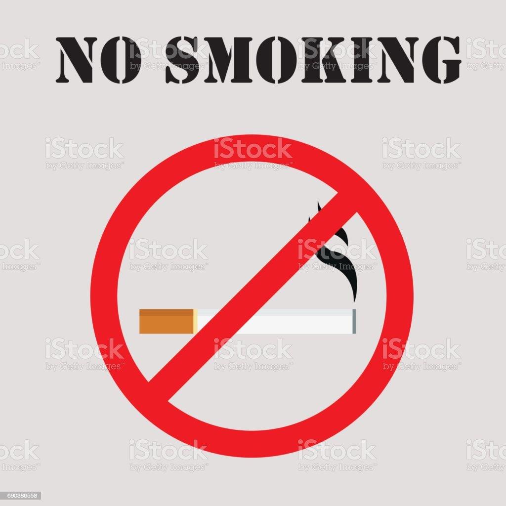 Round no smoking sign, no smoking icon vector illustration vector art illustration