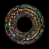 Round ornament design, ethnic mandala