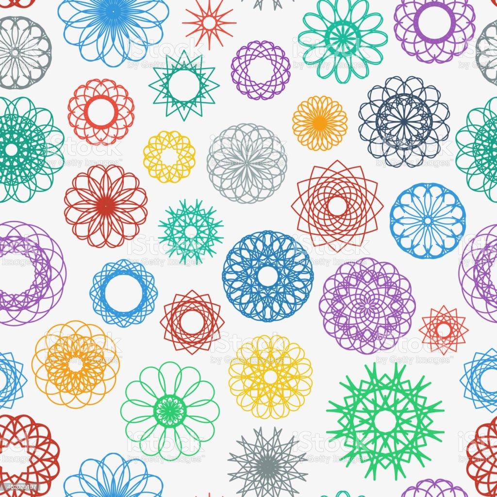 Round Ornament Pattern vector art illustration