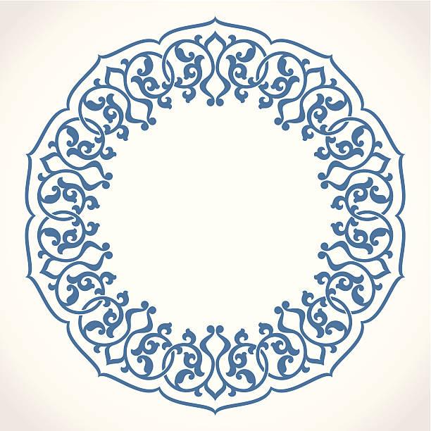 Round Ornament Pattern. vector art illustration