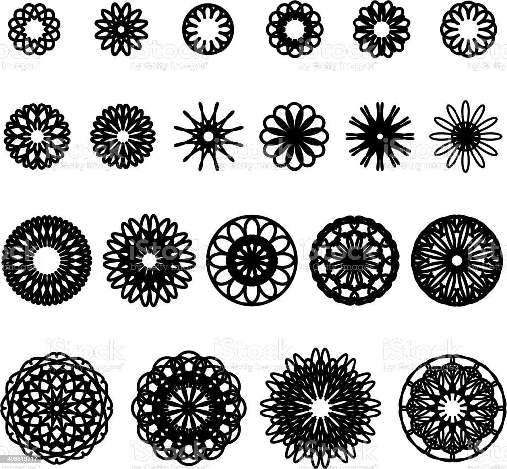 Round Ornament Set royalty-free stock vector art
