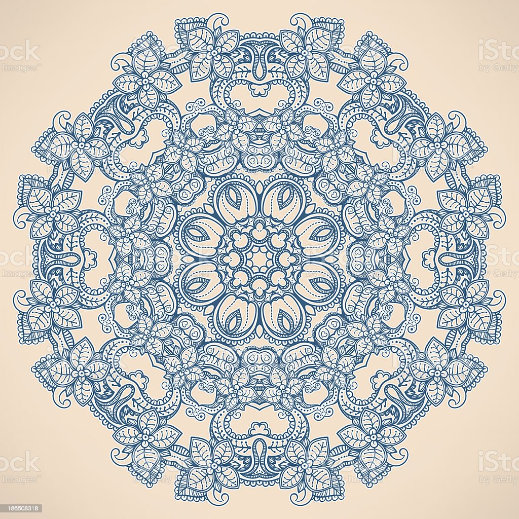 round pattern with flowers royalty-free round pattern with flowers stock vector art & more images of abstract