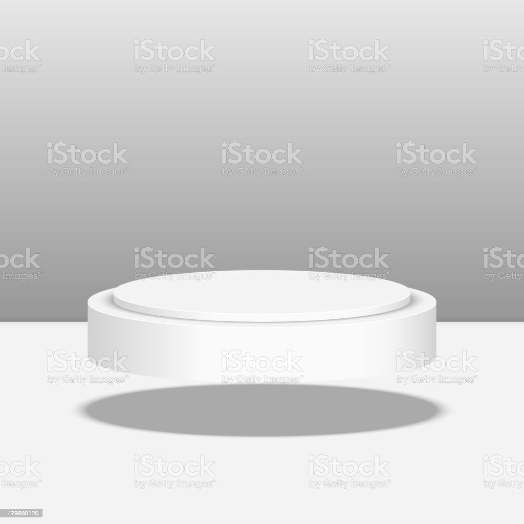 Round pedestal for display vector art illustration