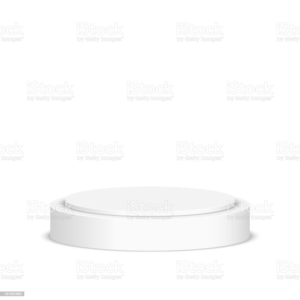 Round pedestal for display vector art illustration