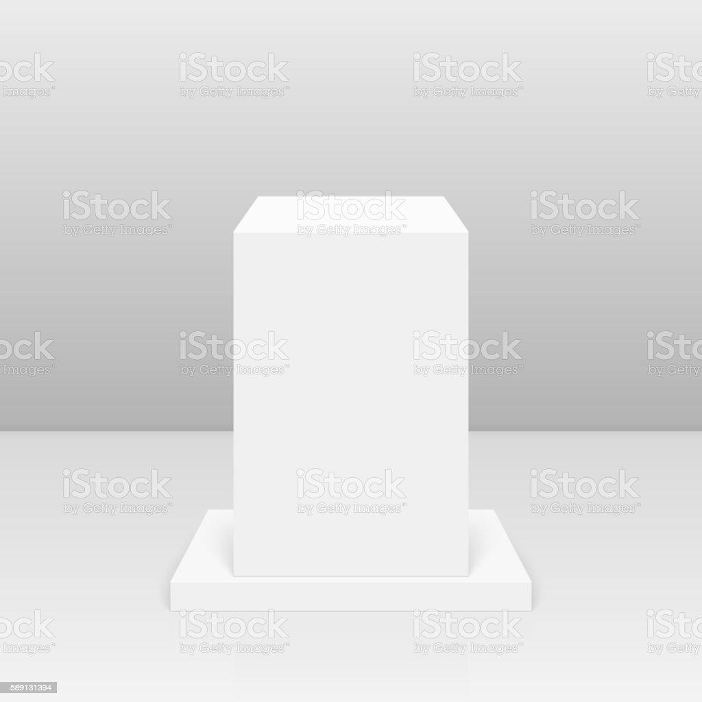 Round pedestal for display. vector art illustration