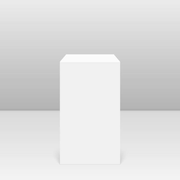 illustrazioni stock, clip art, cartoni animati e icone di tendenza di round pedestal for display. - piedistallo