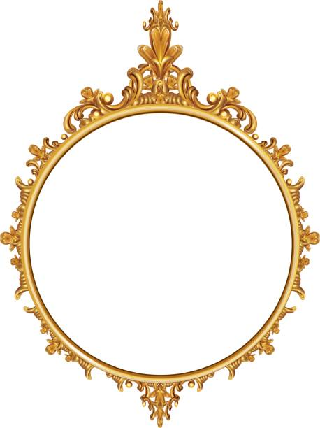 Best Gold Mirror Illustrations Royalty Free Vector