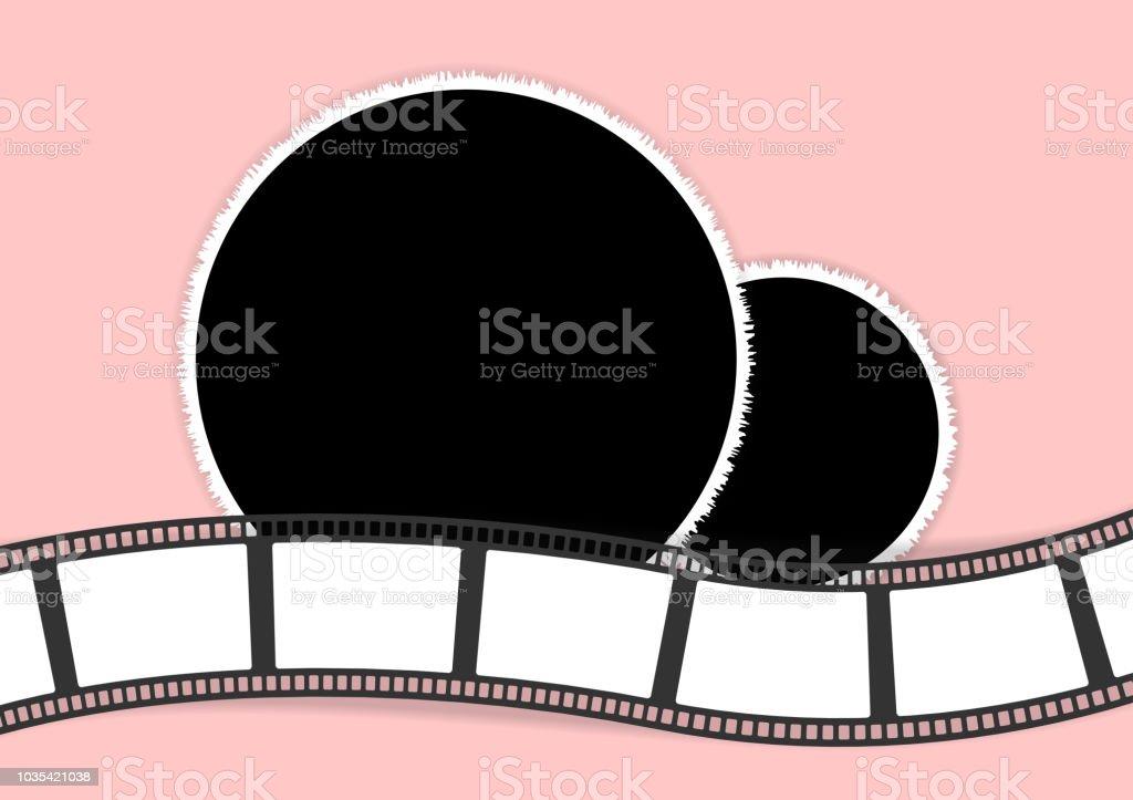 ラウンド フォト フレームや家族のアルバムのフィルム ストリップ
