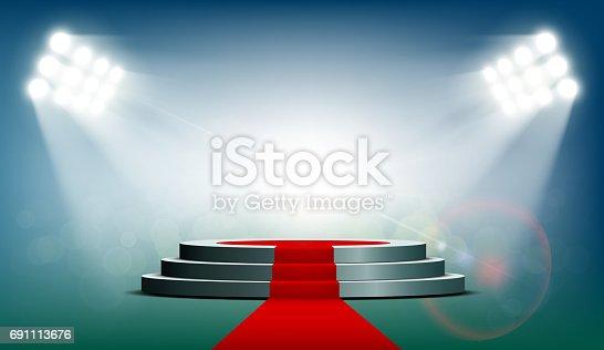 podium rond avec un tapis rouge  u2013 cliparts vectoriels et