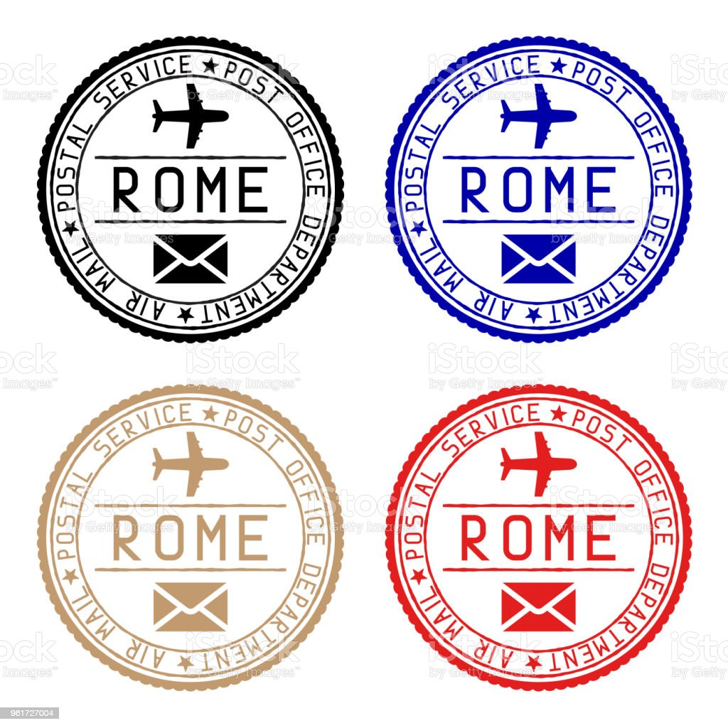 Round Postmarks From Rome Stock Illustration Download Image Now Istock