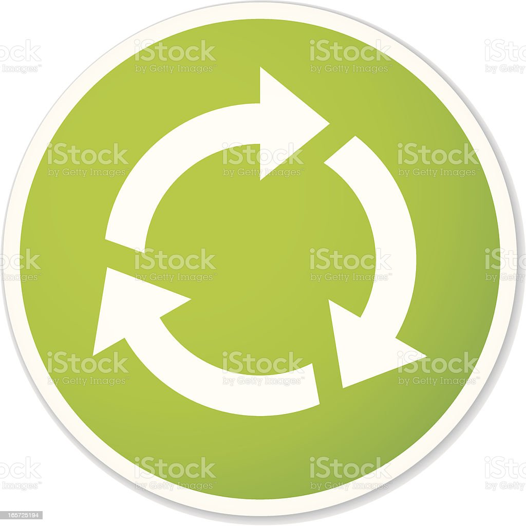 round recycling symbol sticker royalty-free stock vector art