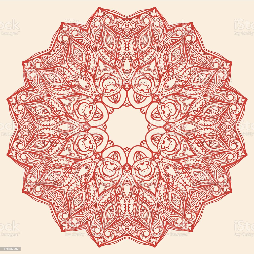 round red pattern royalty-free stock vector art
