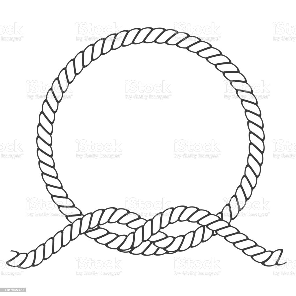 Round Rope Frame Circle Ropes Rounded Border And Decorative