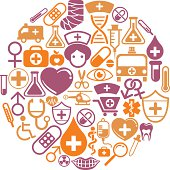 Round shape pattern with medical icon