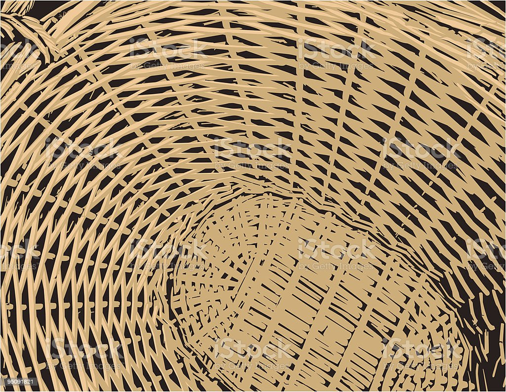 Round shaped Basket vector art illustration