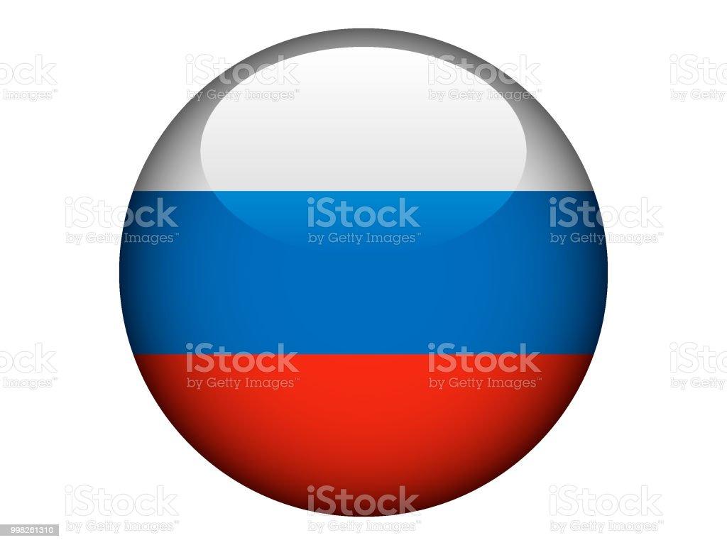 Rond brillant drapeau de la Russie - Illustration vectorielle