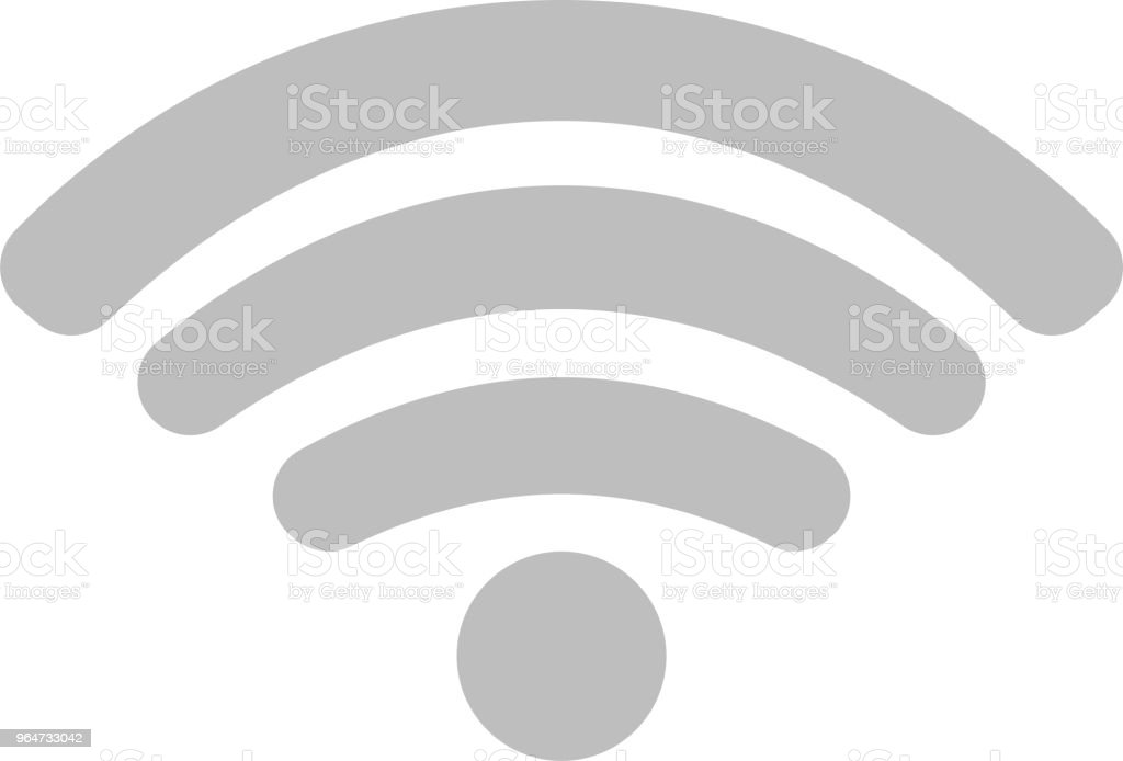 Round Signal icon of radio wave status 0 vector art illustration
