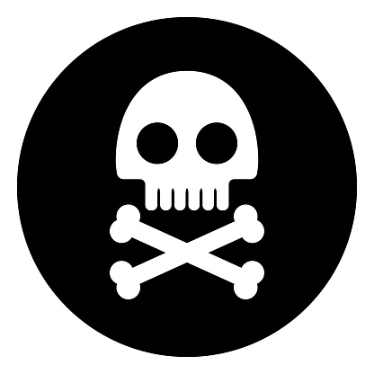 Round Skull And Crossbones icon