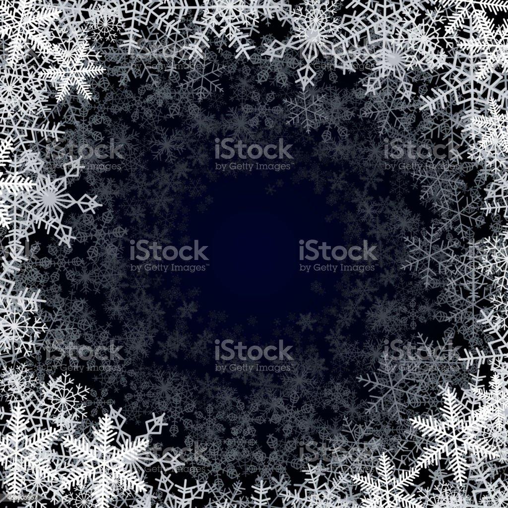 Round snowfall frame royalty-free stock vector art