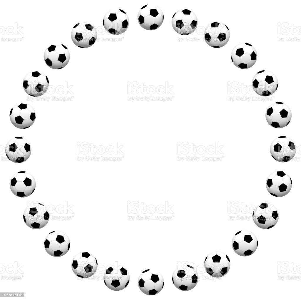 Round Soccer Ball Frame Isolated Vector Illustration On White ...