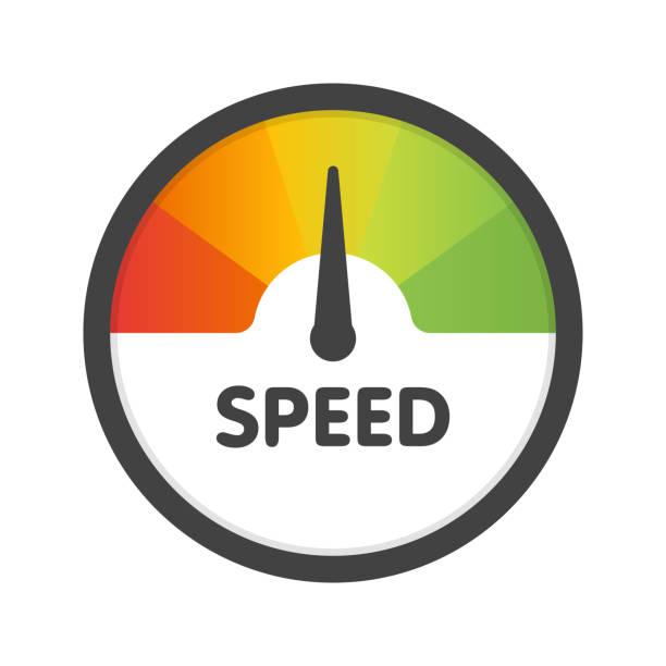 Round Speedometer fast speed. Vector illustration template Round Speedometer fast speed. Vector illustration template. slow motion stock illustrations
