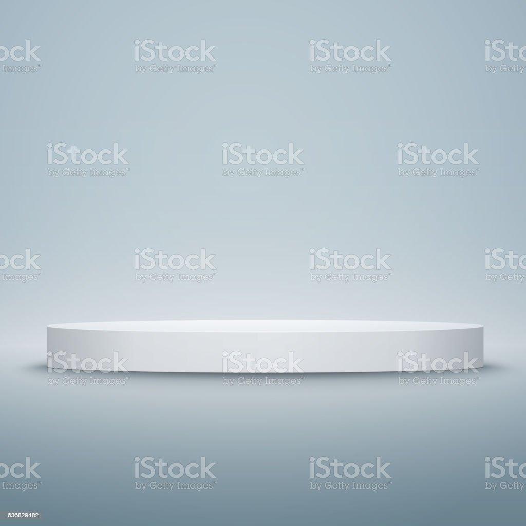 Round stage podium isolated. Vector illustration. vector art illustration