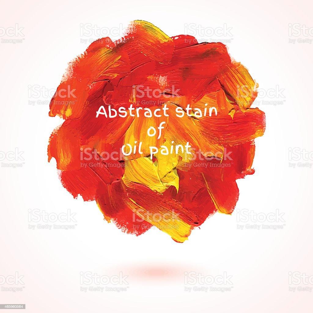Round stain of oil paint. vector art illustration