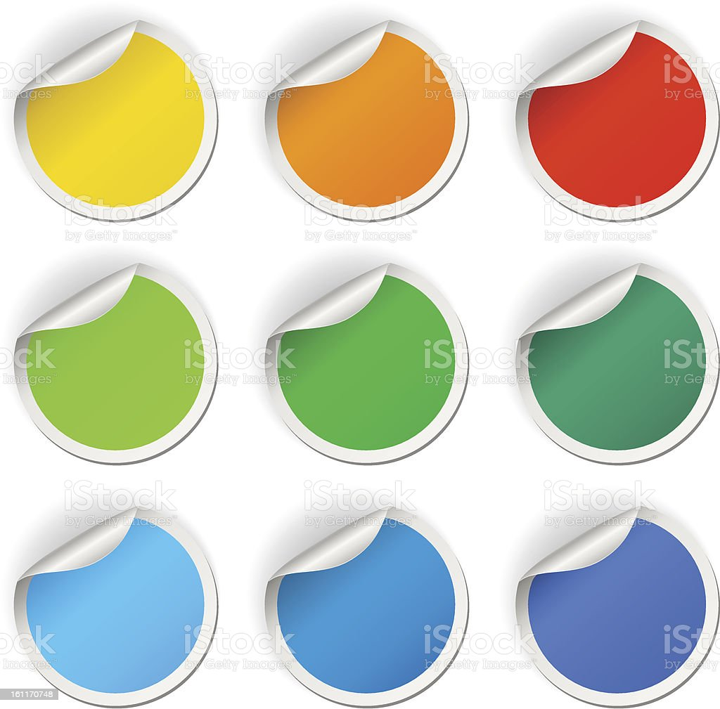 Round stickers set royalty-free stock vector art